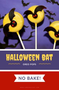 Learn how to make these easy NO BAKE cookie pops for Halloween! These are great for a Halloween party or giving out to kids for trick or treating. Cookie Recipes From Scratch, Delicious Cookie Recipes, Easy Cookie Recipes, Dessert Recipes, Salted Caramel Fudge, Salted Caramels, Halloween Treats For Kids, Halloween Party, Easy No Bake Cookies