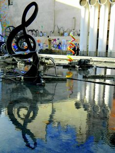 Kandinsky Fountain at the Pompidou Centre, Paris, France.