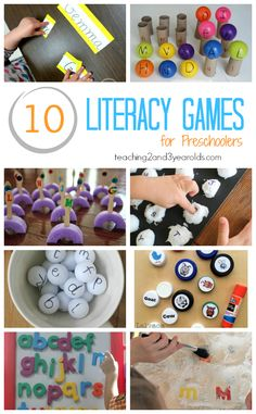 Build preschool literacy skills with these fun ABC games! Perfect for the classroom or at the kitchen table.