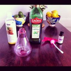 ingredients for after shower spritzing oil