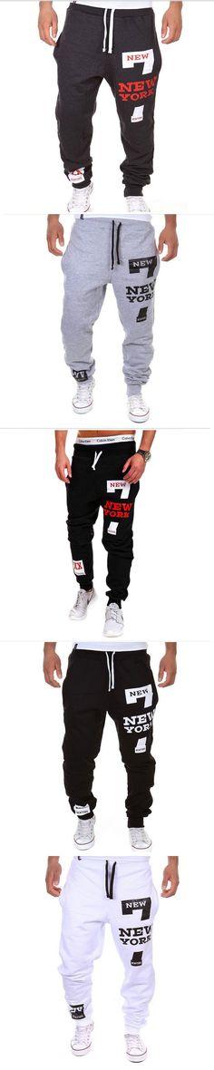 Autumn New Men's Casual Pants Fashion Fitness Workout Pants Letter Print Sweatpants Trousers Jogger Pants Homewear Elastic waist
