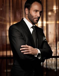 Tom Ford. This is a man I would trust to dress me. Perfection. Impeccable. I mean look at how he is dressed. Wow.