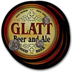 Glatt Beer & Ale Drink Coasters - Set of 4 #glatt #family #beer #gift