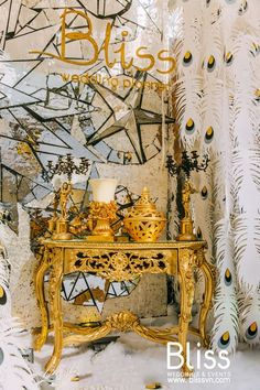 Inspired by the European 15th Century Masquerade, an extravagant and luxurious Wedding fair area with the fabulous mask images and exquisite feathers. #blissweddings&events #weddingfairdecor #weddingfairideas #masqueradeweddingideas #masqueradedecor