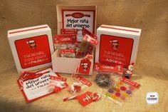 Pack navideño personalizado con diferentes dulces y detalles #Escarabat #PackPersonalizado #PackNavidad #PacksGnadia