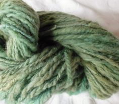 Hand spun, hand dyed blue/green wool/yarn using natural Moroccan dyes by RebeccasWool on Etsy