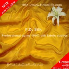 http://www.silkfabricwholesale.com/12mm-silk-crepe-de-chine-fabric-earth-yellow.html  F.D. silk most professional 12mm silk crepe de chine fabric-earth yellow supplier.
