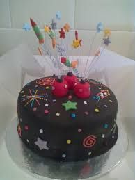 Image result for ideas for cake with firework decorating
