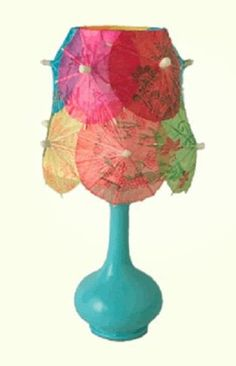 Cocktail umbrella lamp shade