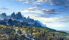 First Sight of Ithilien by Ted Nasmith