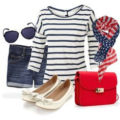 Incorporating Patriotism Into Everyday Fashion #usa #outfits #redwhiteandblue #patriotic