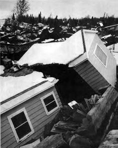 1964 Alaska Earthquake - Our house after the quake