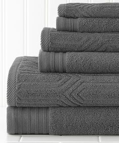 Look what I found on #zulily! Platinum Waves Jacquard Towel Set by Colonial Home Textiles #zulilyfinds