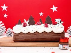 Bûche de Noël au Nutella®, une bûche qui a du chien. - Recette de cuisine Marmiton : une recette