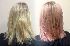 • I Dream in Pink • 🌸 This #softpink #balayage has my heart ♡  I used #instamatic #wella #pinkdream!  #HairByKristenLentz