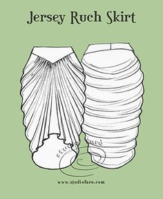 well-suited: Pattern Puzzle - Jersey Ruche Skirt*