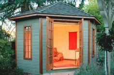 Backyard retreat woman cave art studios 15 Ideas for 2019 Backyard Guest Houses, Backyard Cabin, Backyard Office, Backyard Studio, Backyard Sheds, Garden Studio, Backyard Retreat, Garden Sheds, Garden Playhouse
