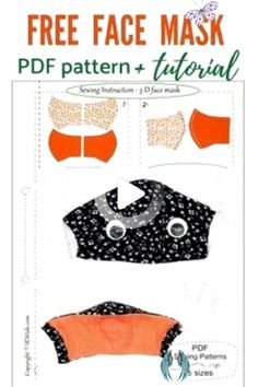 diy surgical mask free pattern printable #pattern #mask #free #printable - pattern mask free printable   face mask pattern free printable   medical face mask pattern free printable   surgical face mask pattern free printable   face mask pattern free printable sewing   pleated face mask pattern free printable   diy surgical mask free pattern printable   diy face mask pattern free printable<br> Sewing Paterns, Pdf Patterns, Free Pattern, Pattern Sewing, Diy Mask, Diy Face Mask, Face Masks, Different Hair Types, Crochet Faces