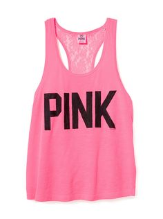 Dreaming Of A PINK Summer...This is a cute lace back racer tank for the summer time with a fun color!