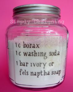Homemade Laundry Detergent:  I add about a 1/4 c. Oxiclean to keeo clothes from fading