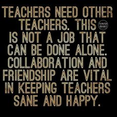 Team work people. We tell our students to help each other why don't we listen to our own advice