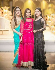 Sara razi, Iqra Aziz and arisha razi Asian Wedding Dress, Pakistani Formal Dresses, Pakistani Wedding Outfits, Pakistani Wedding Dresses, Pakistani Dress Design, Asian Bridal, Simple Dresses, Beautiful Dresses, Nice Dresses