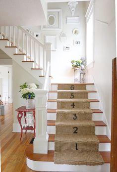 DIY Jute Stair Runner | B Vintage