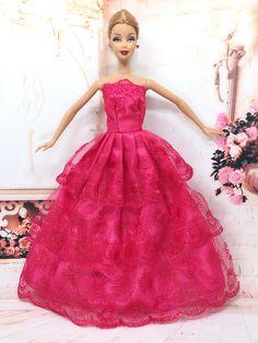 NK Một Chiếc Công Chúa Búp Bê Váy Cưới Cao Quý Đảng Gown Cho barbie búp bê thiết kế thời trang trang phục món quà tốt nhất cho girl 'búp bê 032a