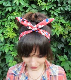 Check out this item in my Etsy shop https://www.etsy.com/ru/listing/245674655/coral-headband-colorful-headband-red