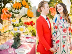 Backyard wedding van het stralende koppel Caitlin en Tanner http://www.nsmbl.nl/we-zijn-helemaal-verliefd-op-deze-kleurrijke-bruiloft/