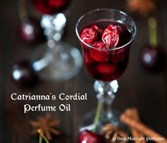 Catrianna's Cordial Perfume Oil  by DeepMidnightPerfumes on Etsy  Pomegranate Liqueur, Currants, Caramel, Pistachio, Spice, Amber, Musk - Chrismas Perfume- Holiday Scent