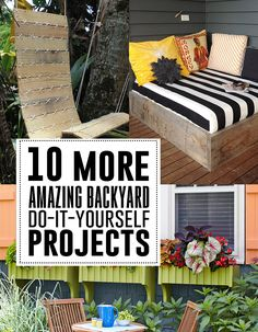 Easy outdoor DIY projects to personalize your backyard and make creative use of open space!