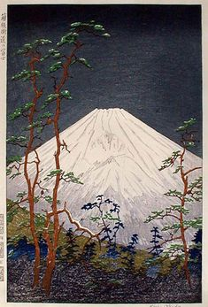 hanga gallery . . . torii gallery: Fuji from Hakone by Koichi Okada