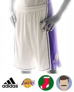 Every Lakers fan should own a jersey at least, you can take it to auditorium, street and anywhere you like, show to all people you are the fan of Lakers. With this Lakers 2015 Christmas Day Cream Shorts, there will be no doubt in anyone's mind as to who you support. Show off your NO.1 idol anytime,