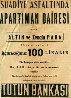 Tutum Bankası ilanı #birzamanlar #istanbul #istanlook