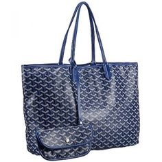 Goyard St Louis Tote Dark Blue 607690 Designer Shoulder Bags d8cd36a801d70