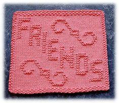 Ravelry: Friends Dishcloth pattern by Rachel van Schie Knitted Dishcloth Patterns Free, Knitted Washcloths, Crochet Dishcloths, Knit Or Crochet, Knitting Patterns Free, Knit Patterns, Knitting Blocking, Knitting Squares, Loom Knitting