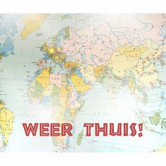 Welkom thuis kaarten - Thuiskomen van wereldreis   Kaartje2go
