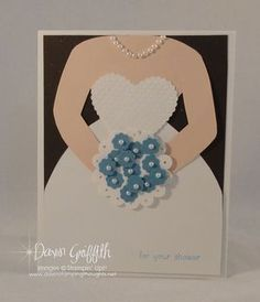 I love Dawn's site and this is a cute wedding shower card.