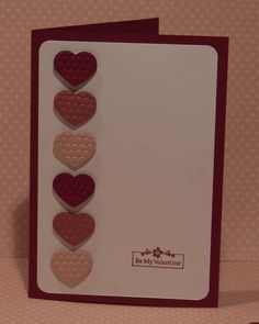 My Little Valentine from Stampin Up - easy to alter for wedding and anniversary cards