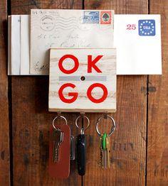 Ok Go Reclaimed Wood Hook | ReinSign