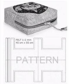 Pouch Gluten Free Recipes t fal gluten free bread maker Bag Patterns To Sew, Sewing Patterns, Cosmetic Bag Tutorial, Handbag Tutorial, Pouch Tutorial, Diy Tutorial, Leather Bag Pattern, Pouch Pattern, Pattern Sewing