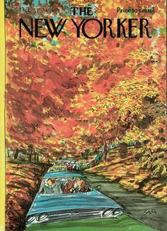 """The New Yorker, October 7, 1974. """"Autumn Traffic""""."""