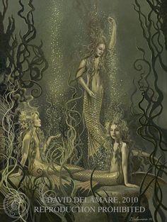 by david delamare artists, oil paintings, product design, mermaid art, rhinemaiden, delamar art, art fantasi, artist david, david delamar
