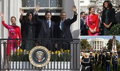 #20160310 #DC #TheWhiteHouse #Obama and #Michelle welcome the #Trudeaus (#CANADA) to the White House