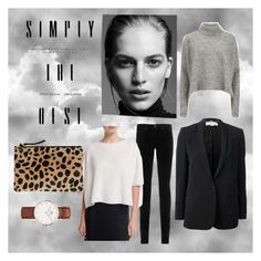 """""""Untitled #2"""" by evabaranyai on Polyvore featuring AG Adriano Goldschmied, Helmut Lang, Designers Remix, STELLA McCARTNEY, Daniel Wellington and Clare V."""