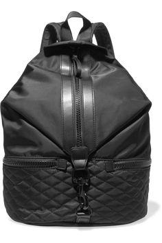 REBECCA MINKOFF Julian Leather-Trimmed Shell Backpack.  rebeccaminkoff  bags   leather   1b3b3a33ccc9b