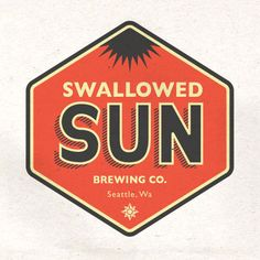 nice name too for a golden brew! - Swallowed Sun Brewing Co. beer bottle label