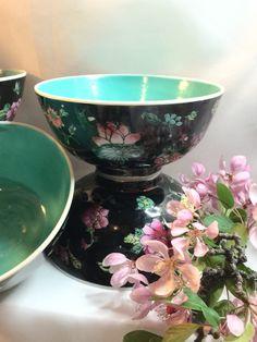 Vintage Japanese Porcelain Ware Floral Enamel by CoCoBlueTreasures