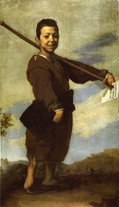 The Clubfoot (also known as The Club-Footed Boy) is a 1642 oil on canvas painting by Jusepe de Ribera. It is housed in the Musée du Louvre in Paris, and was painted in Naples. Part of the La Caze bequest, in Baroque Painting, Baroque Art, Caravaggio, Pied Bot, Art Du Temps, Diego Velazquez, Oil On Canvas, Canvas Art, Francisco Goya